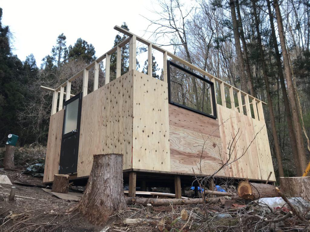 壁パネル作り(小屋作り6)