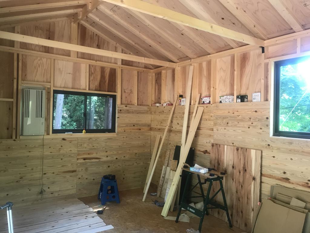内壁作り1(小屋作り10)