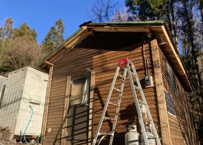 外壁作り2(小屋作り13・小屋暮らし62日目)