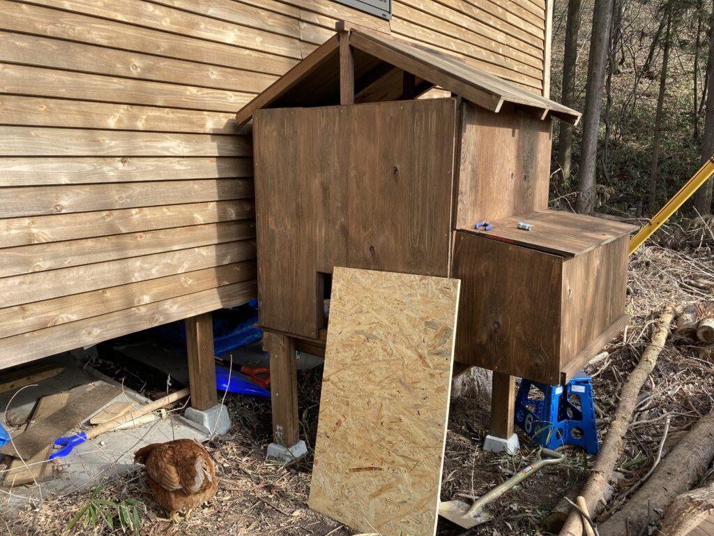 壁・産卵箱作り(新・鶏小屋作り3)