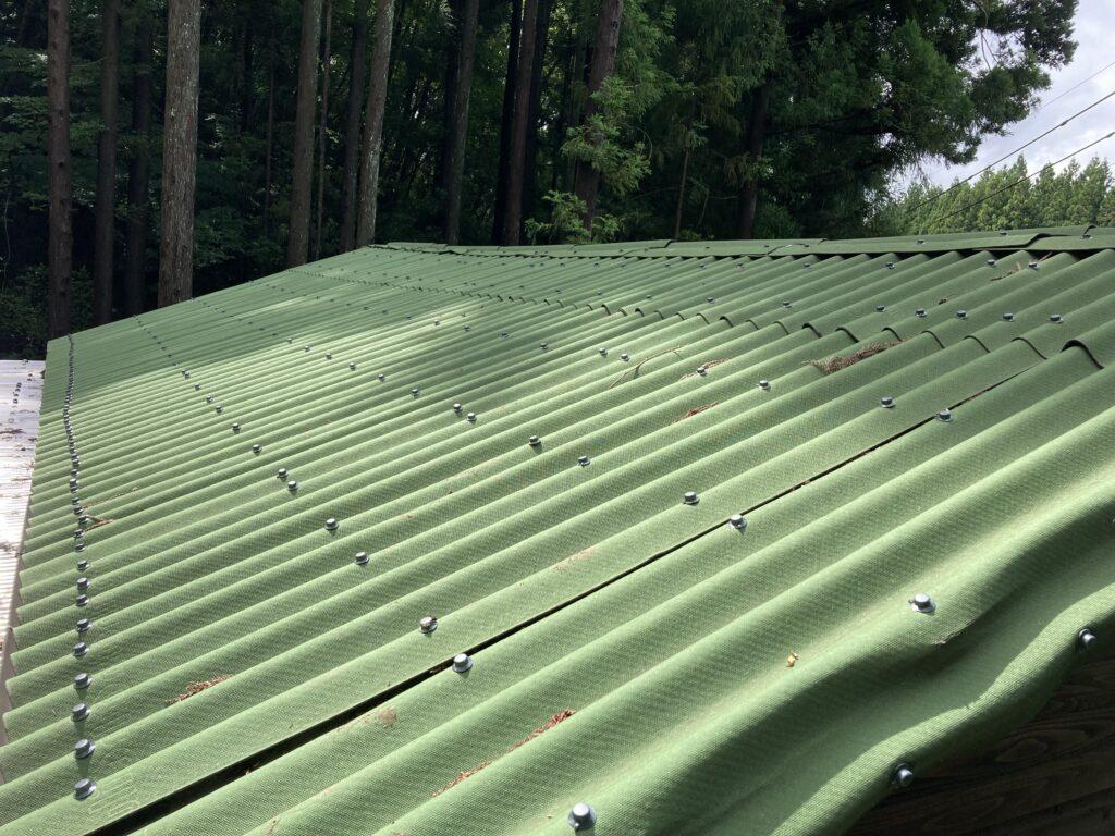 山小屋の雨漏り修理 2回目